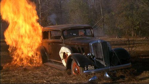 Bonnie Clyde Car Fire