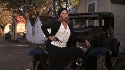 Bonnie Clyde Faye Posing Gun