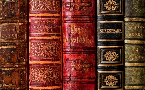 Leather bindings of English poetical works