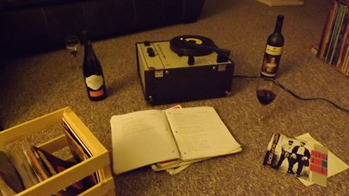 My Birthday Was Last Weekend And We Spent The Evening Sitting On Floor In Living Room Drinking Cheap Wine Listening To 45s Record Player